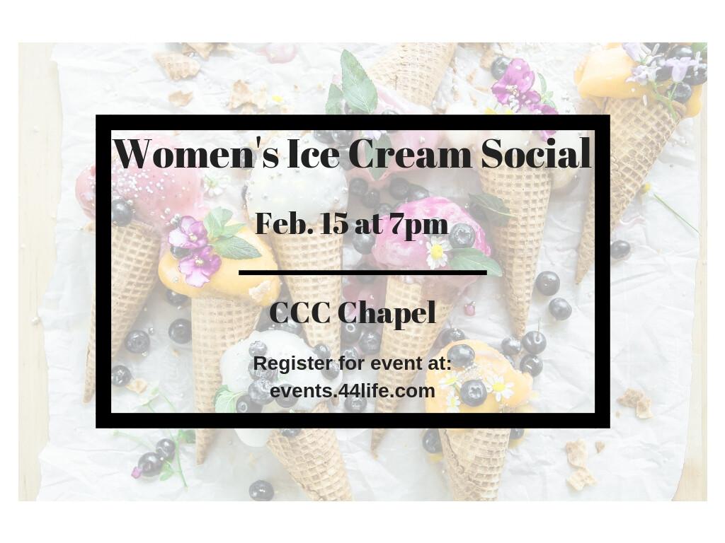 Women's Ice Cream Social